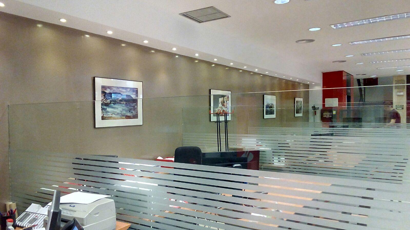 la oficina del banco santander en la calle mayor de