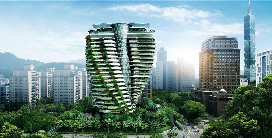 """Tao Zhu Yin Yuan, el edificio taiwanés que """"se come"""" la contaminación"""